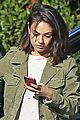 mila kunis sports olive green coat while out in studio city 02