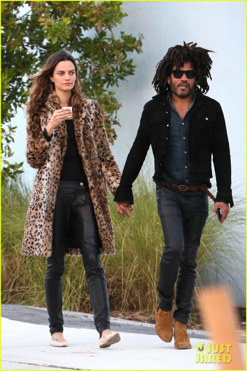 Lenny Kravitz Steps Out With New Girlfriend Barbara Fialho