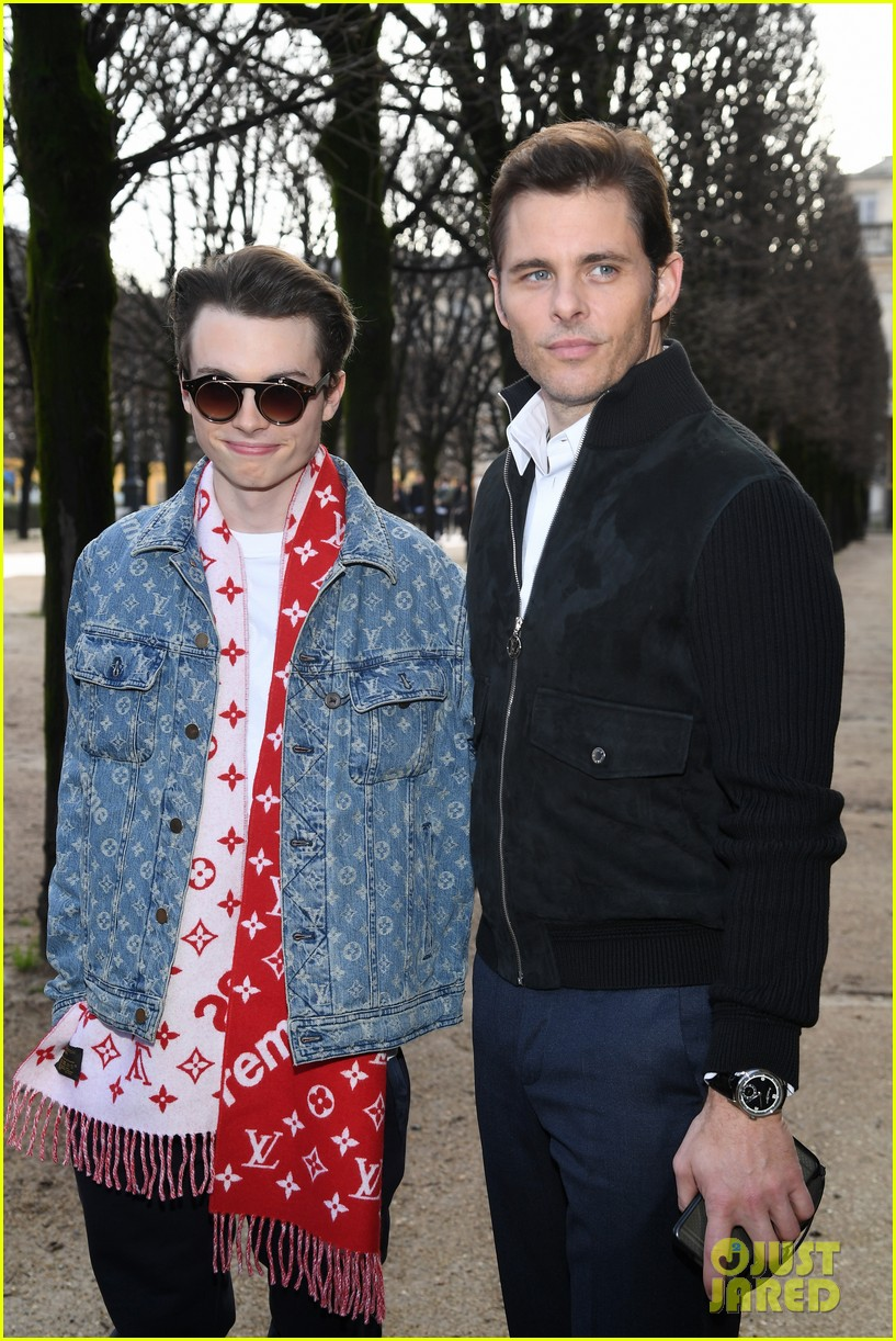 james marsden brings son jack to louis vuitton menswear paris fashion show 034016277