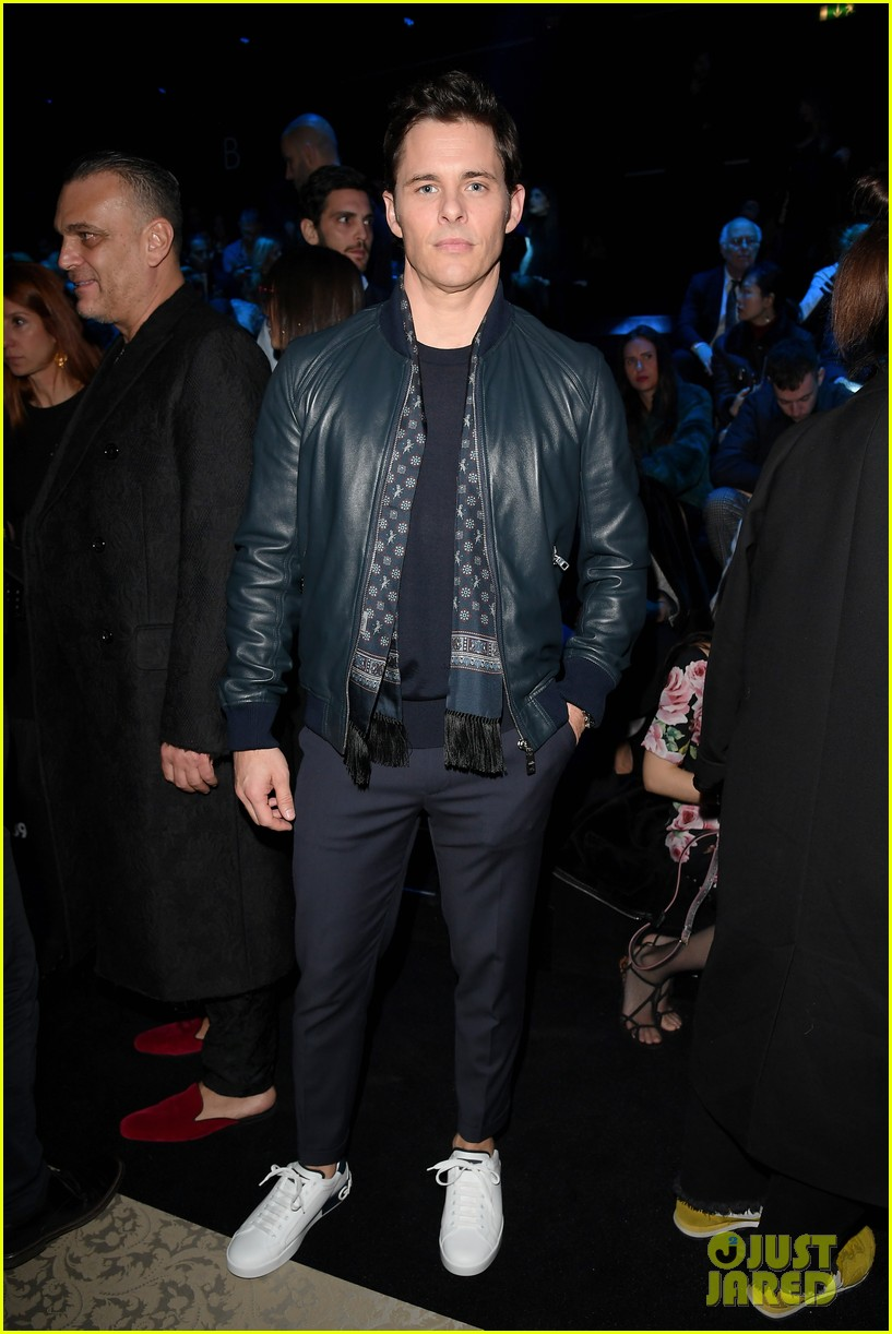 james marsden watches son jack walk in dolce show 014014268