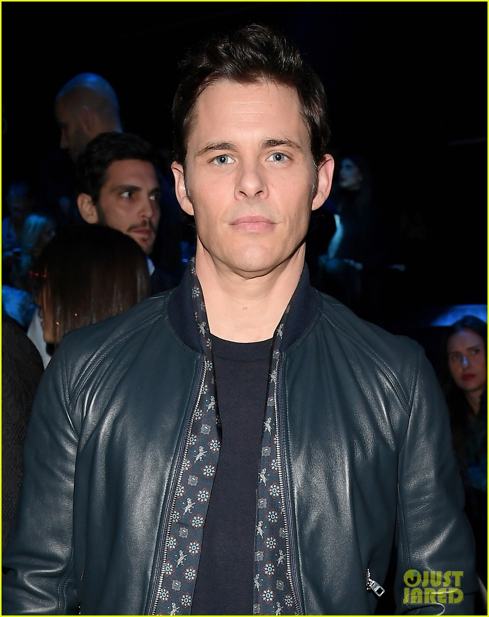 james marsden watches son jack walk in dolce show 034014270