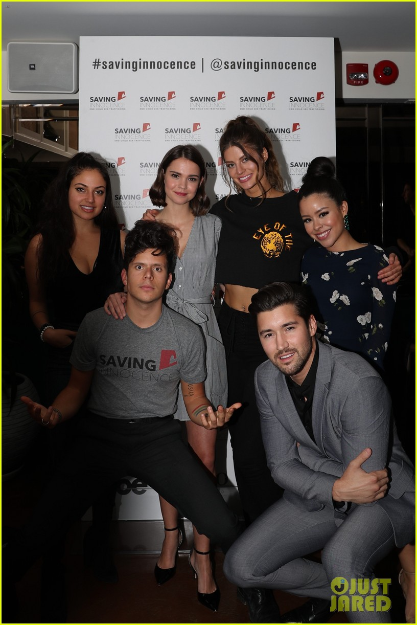 maia mitchell gets support from the fosters co star cierra ramirez at saving innocence 014020936