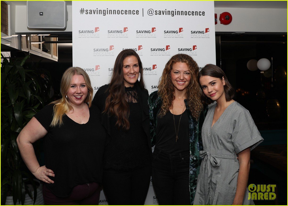 maia mitchell gets support from the fosters co star cierra ramirez at saving innocence 054020939