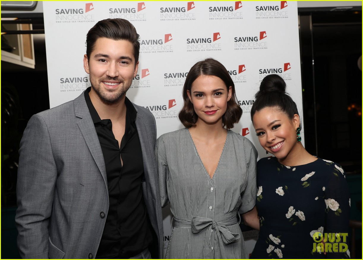 maia mitchell gets support from the fosters co star cierra ramirez at saving innocence 064020940