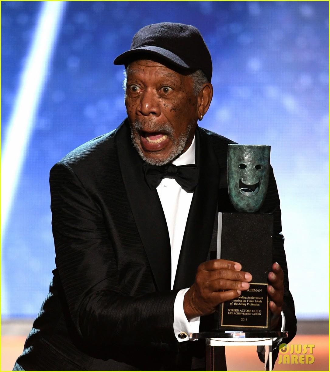 Morgan Freeman Accepts The Lifetime Acheivement Award At