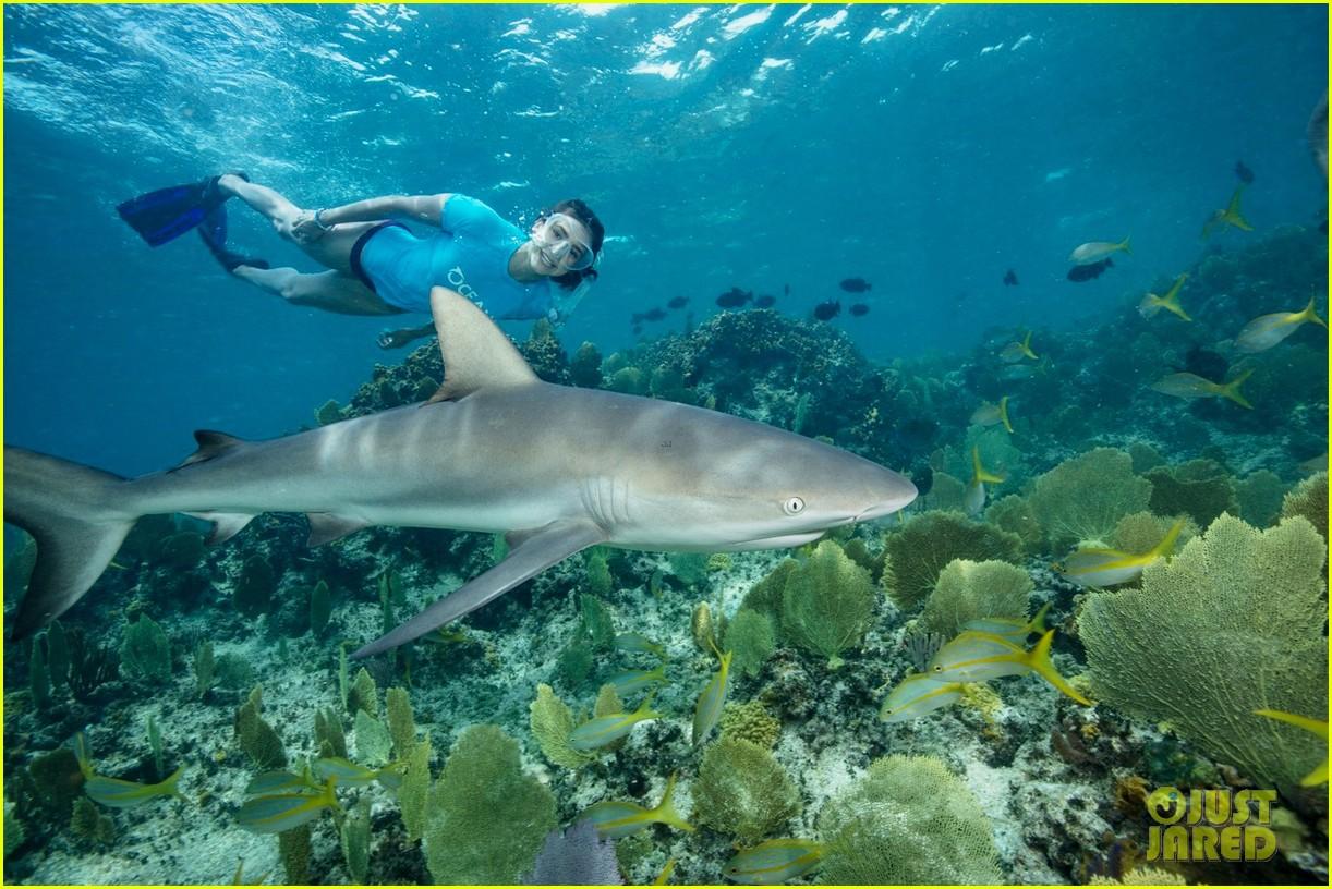 nina dobrev swims with sharks 024007070