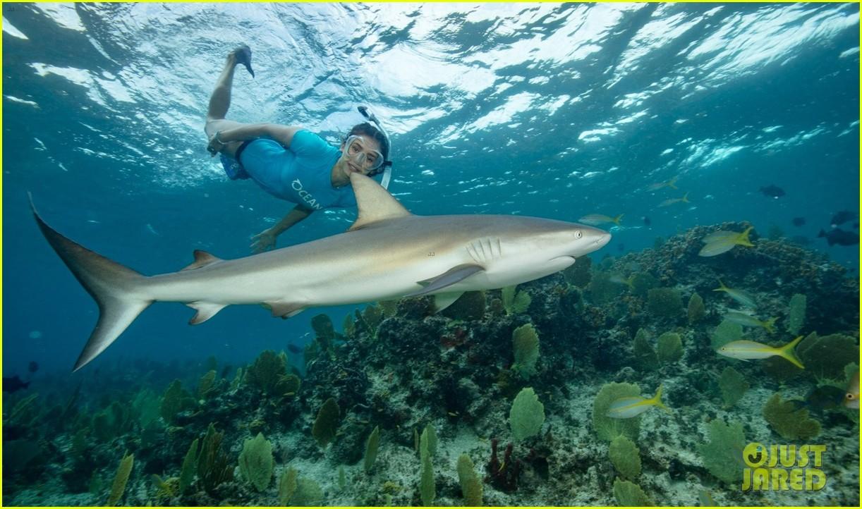 nina dobrev swims with sharks 044007072