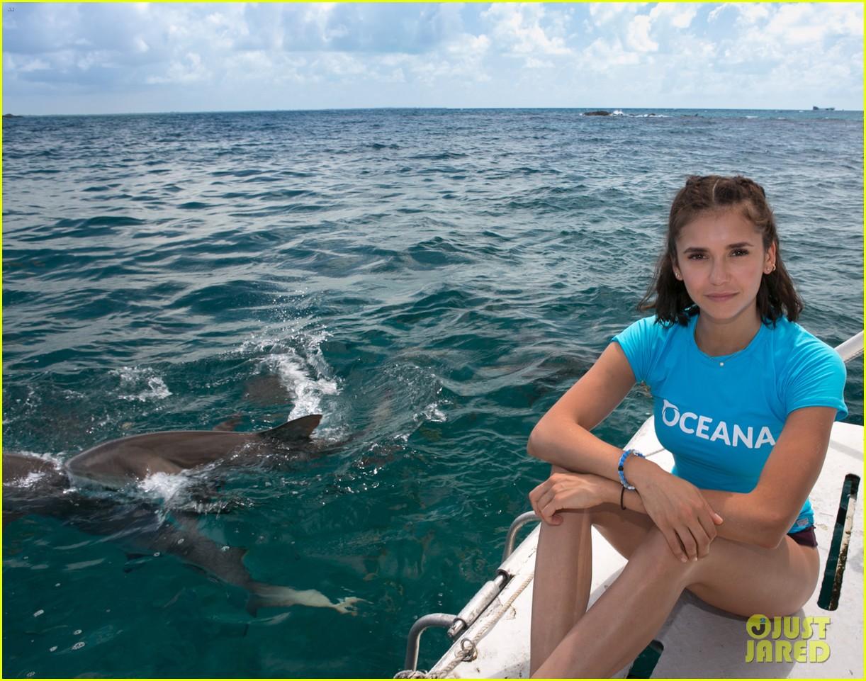 nina dobrev swims with sharks 054007073