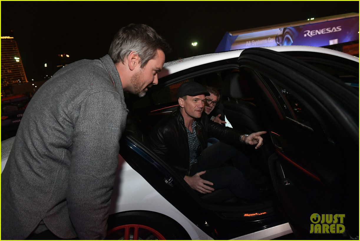 neil patrick harris checks out a self driving car with lyft 094012043