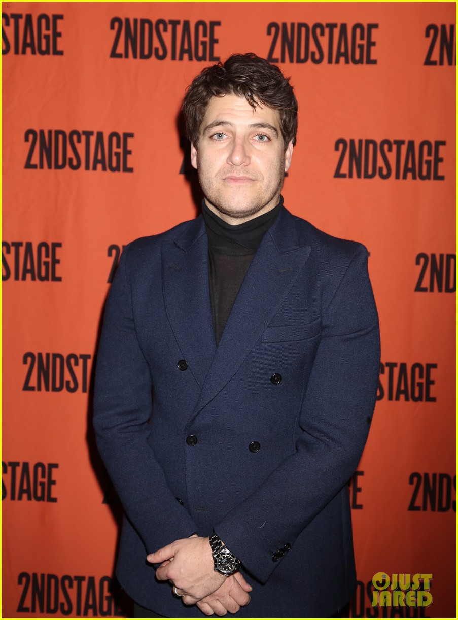 anna chlumsky adam pally attend opening night of cardinal in nyc 054024899