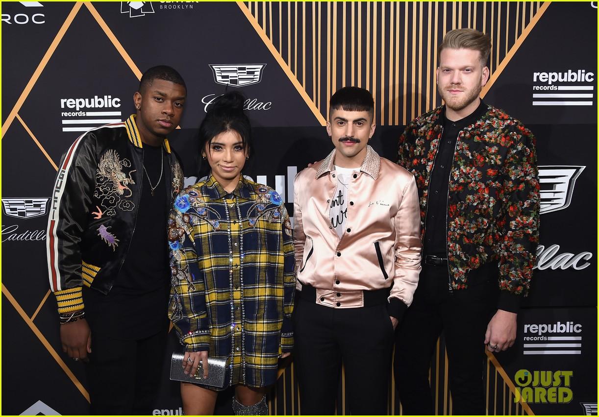 Pentatonix's Scott Hoying & Kirstin Maldonado Hit Grammys