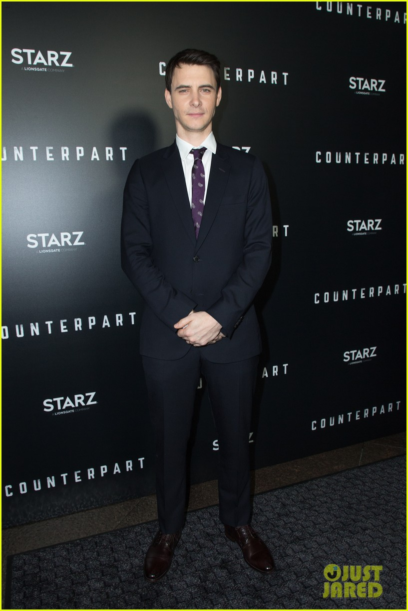 j k simmons nolan gerard funk celebrate season one premiere of counterpart 024012591