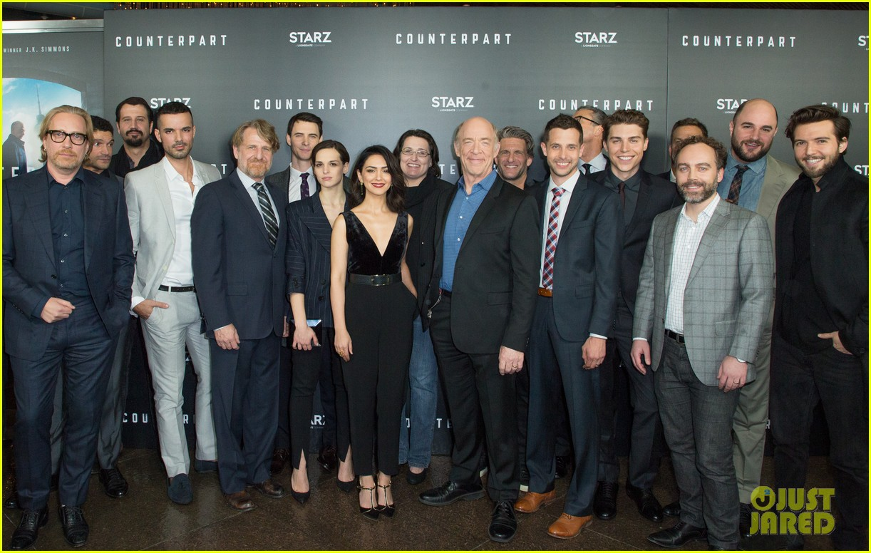 j k simmons nolan gerard funk celebrate season one premiere of counterpart 034012592