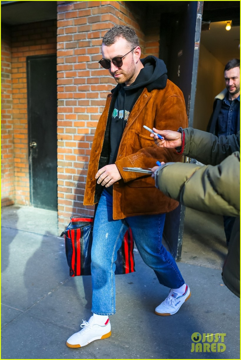 sam smith steps out after releasing new spotify singles collection 084025183