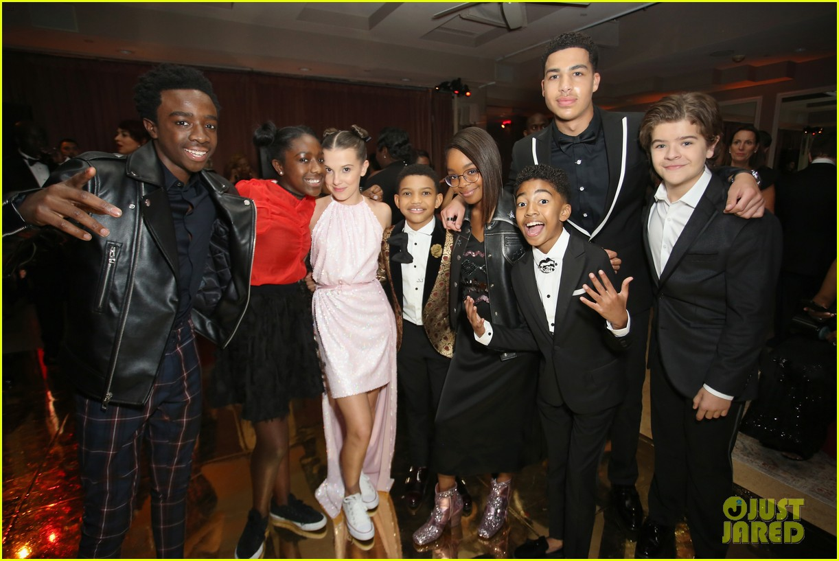 stranger things kids netflix sag awards after party 054019327
