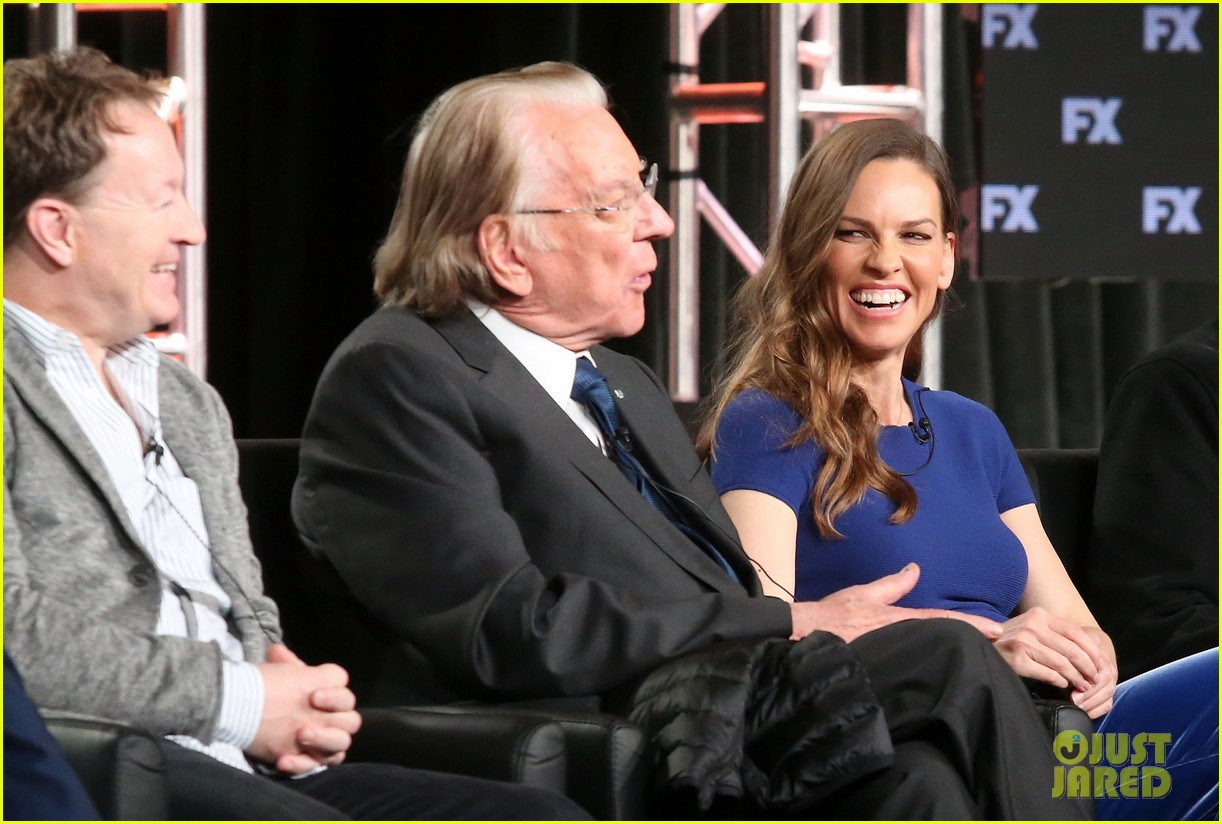 hilary swank and donald sutherland join trust co stars at winter tca press tour 2018 034008360