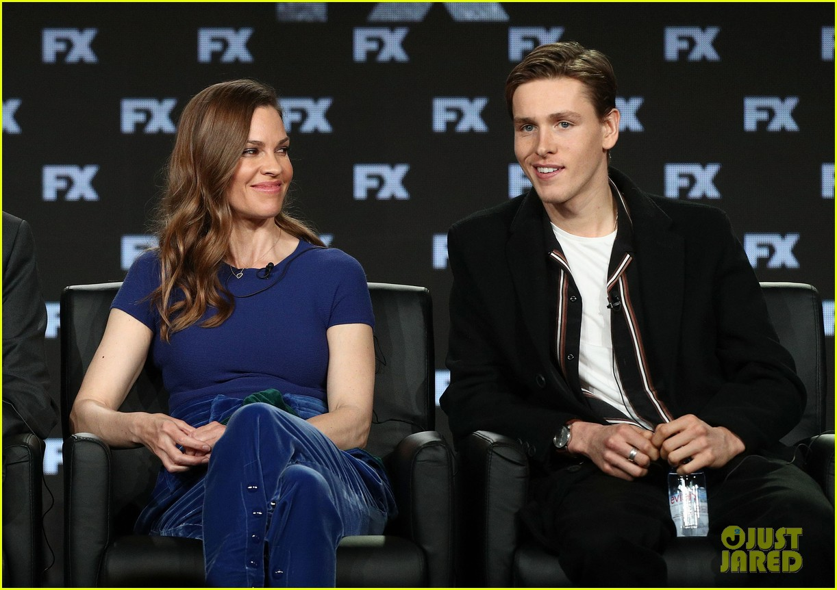 hilary swank and donald sutherland join trust co stars at winter tca press tour 2018 054008362