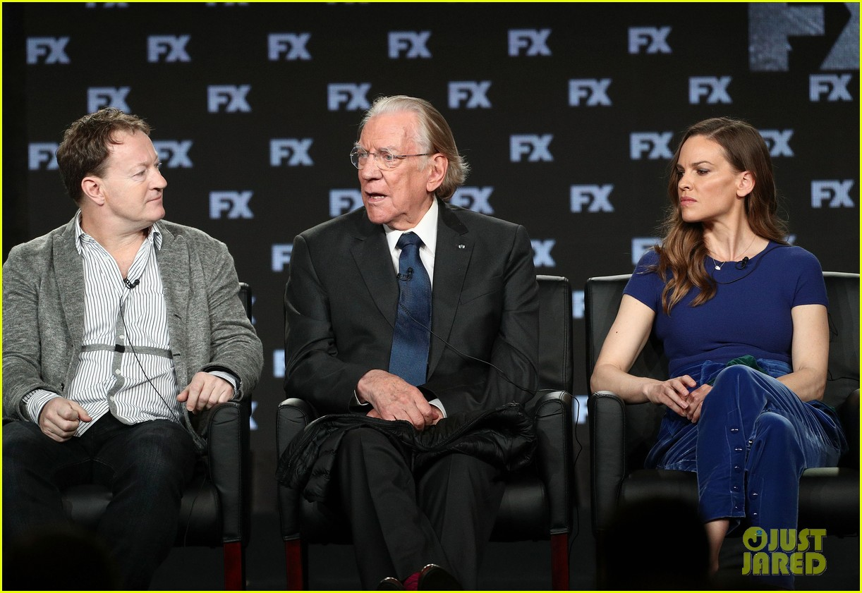 hilary swank and donald sutherland join trust co stars at winter tca press tour 2018 234008380