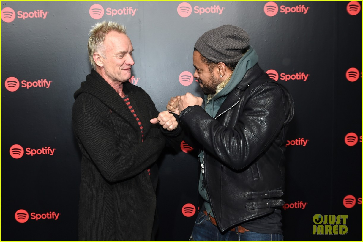 keith urban sting and shaggy join forces at spotifys best new artist party 014021643