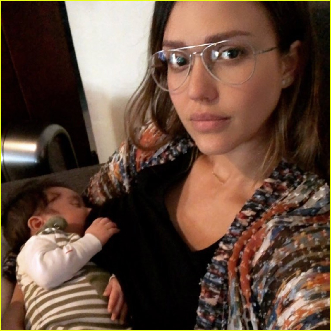Jessica Alba Breastfeeds Son Hayes In A Target Dressing