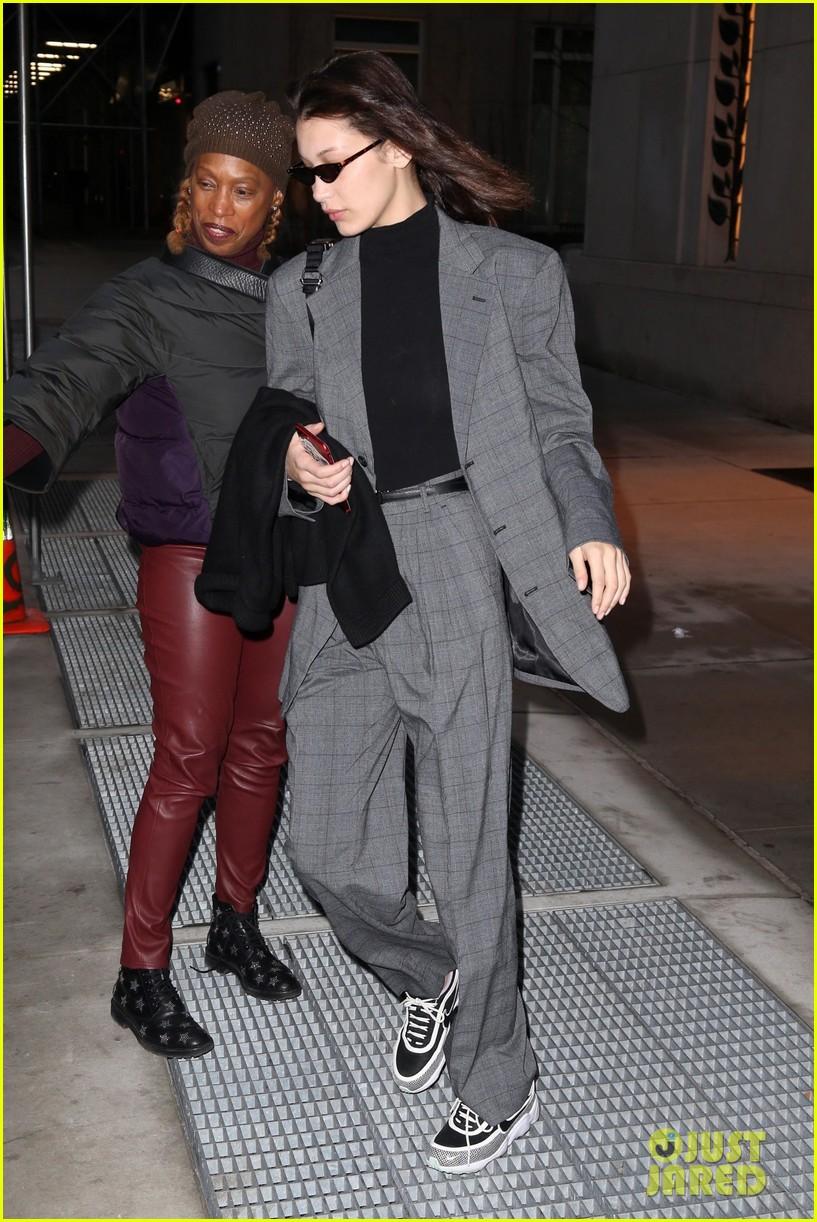bella hadid fashion week february 2018 suit 024033841