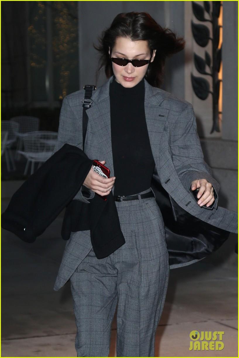bella hadid fashion week february 2018 suit 054033844