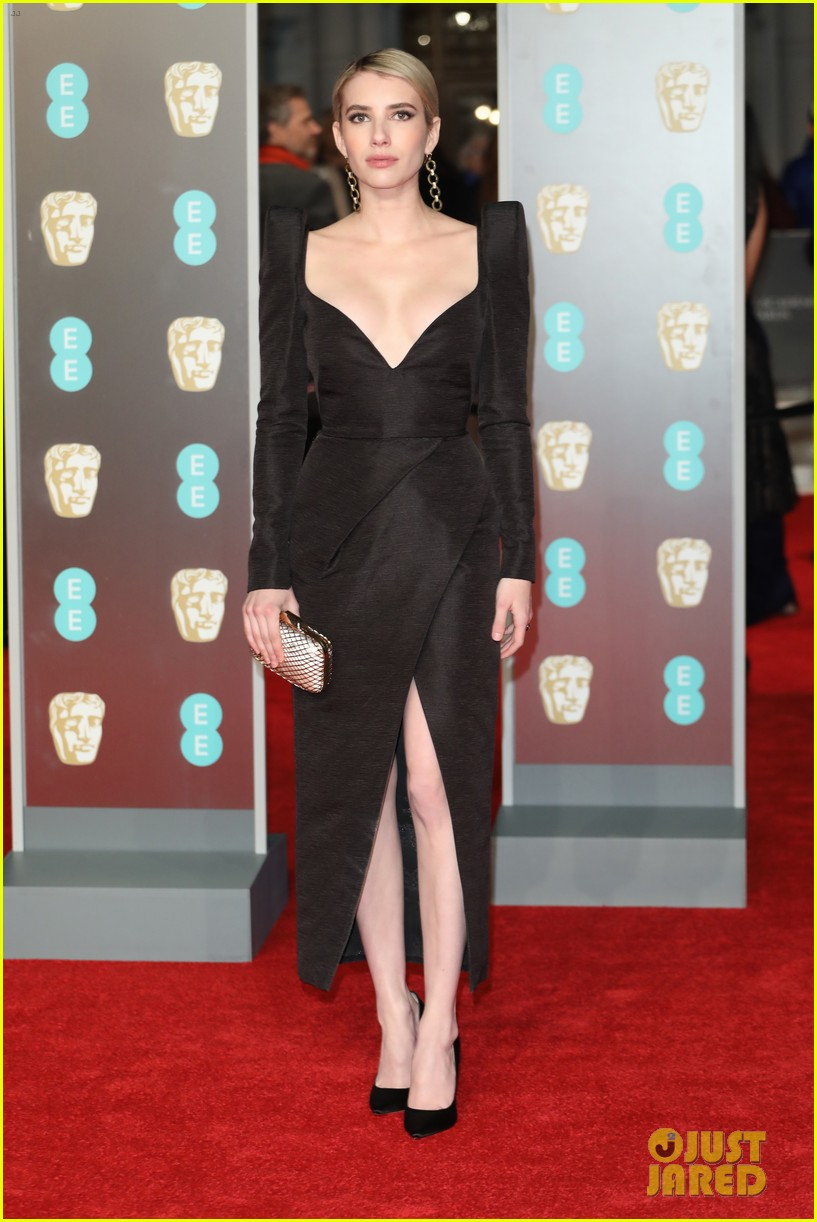 celebrities wearing black baftas 024035129