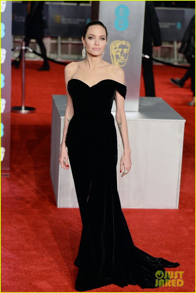 celebrities wearing black baftas 174035144