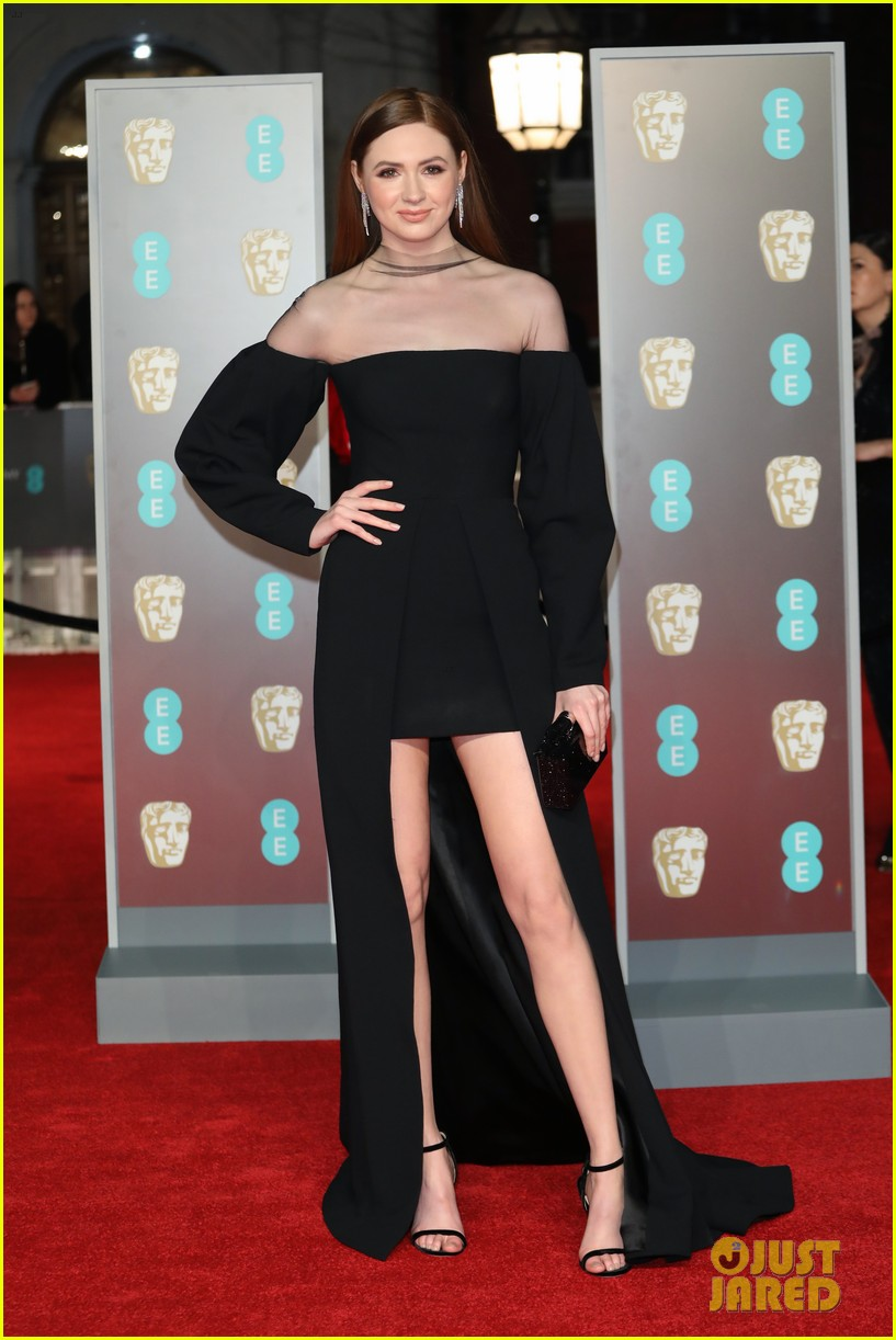 celebrities wearing black baftas 254035152