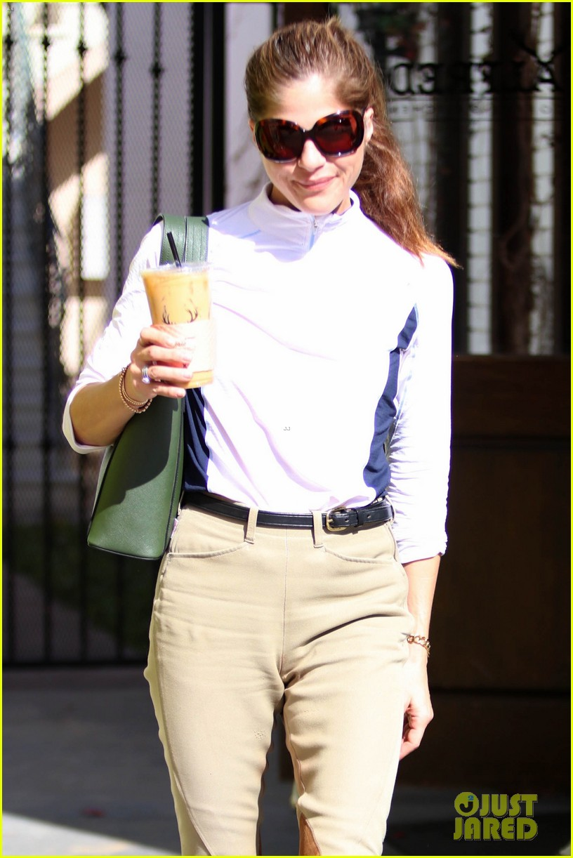 selma blair kicks off her day at the horse stables 114025291