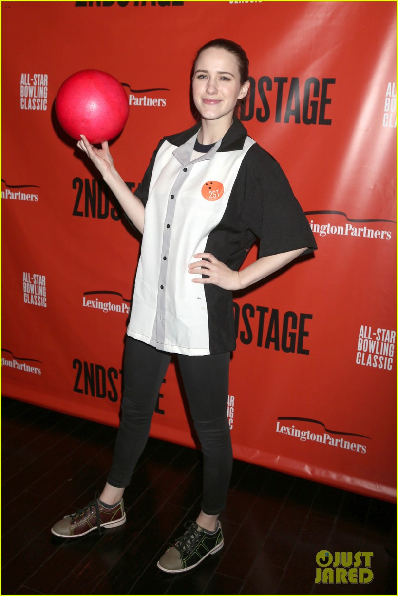 rachel brosnahan steps out to support second stage theater all star bowling classic 044032122