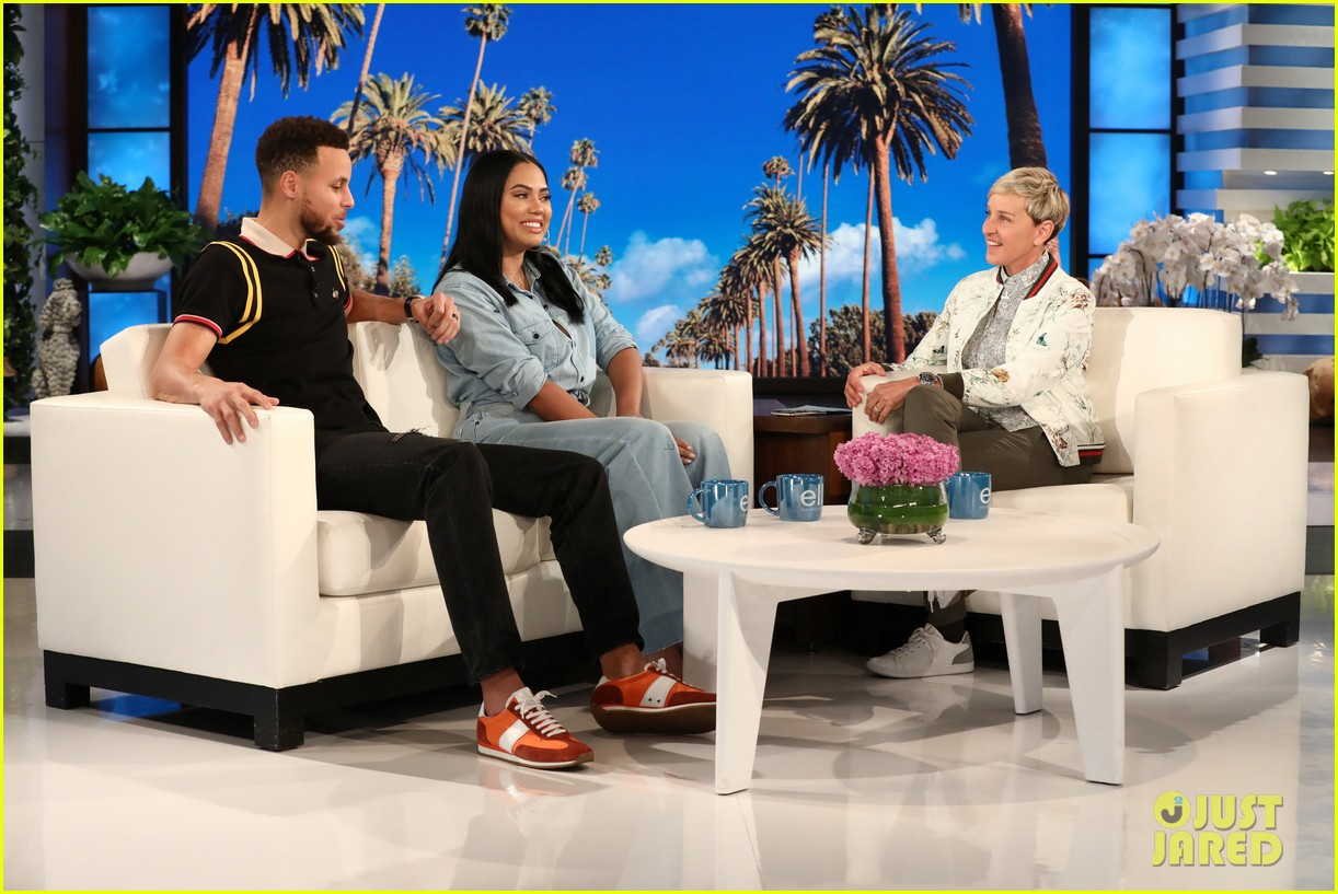 ellen degeneres tries to figure out stephen  u0026 ayesha curry