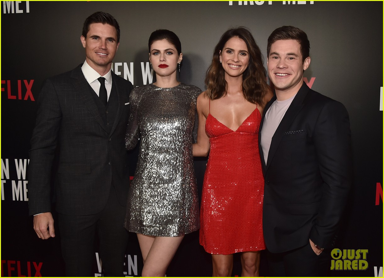 adam devine alexandra daddario buddy up at when we first met premiere 014036488