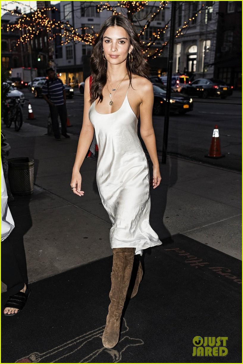 Emily Ratajkowski Looks Hot in a Silk Slip Dress in New York City ...