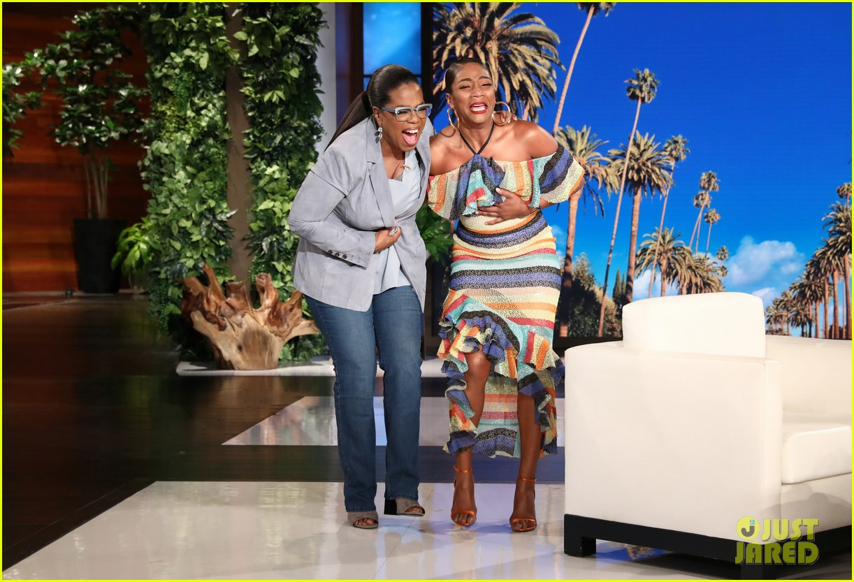 tiffany haddish cries tears of joy after oprah surprises her on ellen 034037310