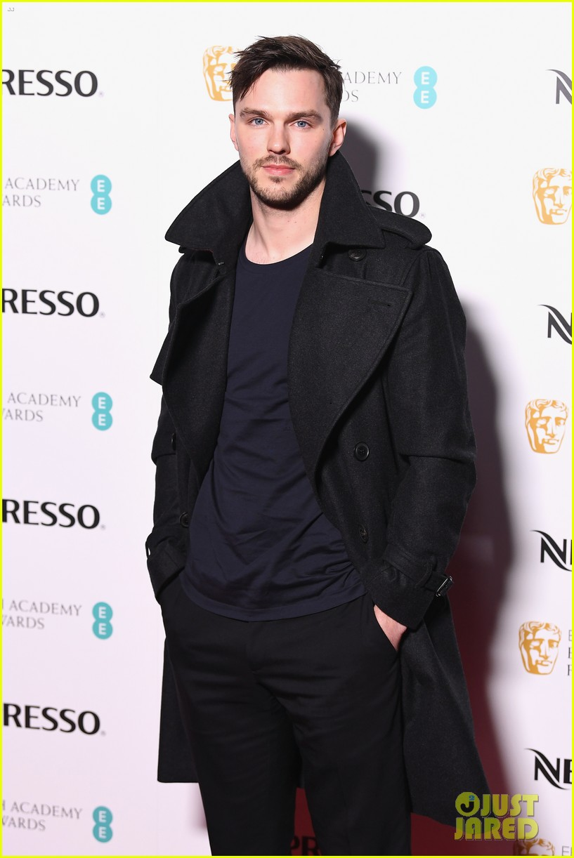 taron egerton nicholas hoult suit up for baftas nominees party 024034820