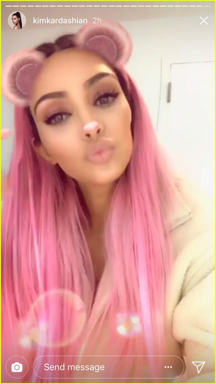 kim kardashian pink hair 024039285