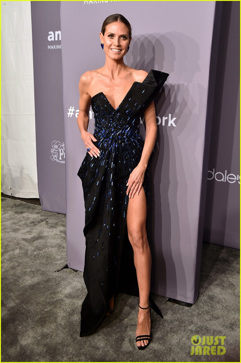heidi klum halsey show off some leg at amfar gala 2018 014029505