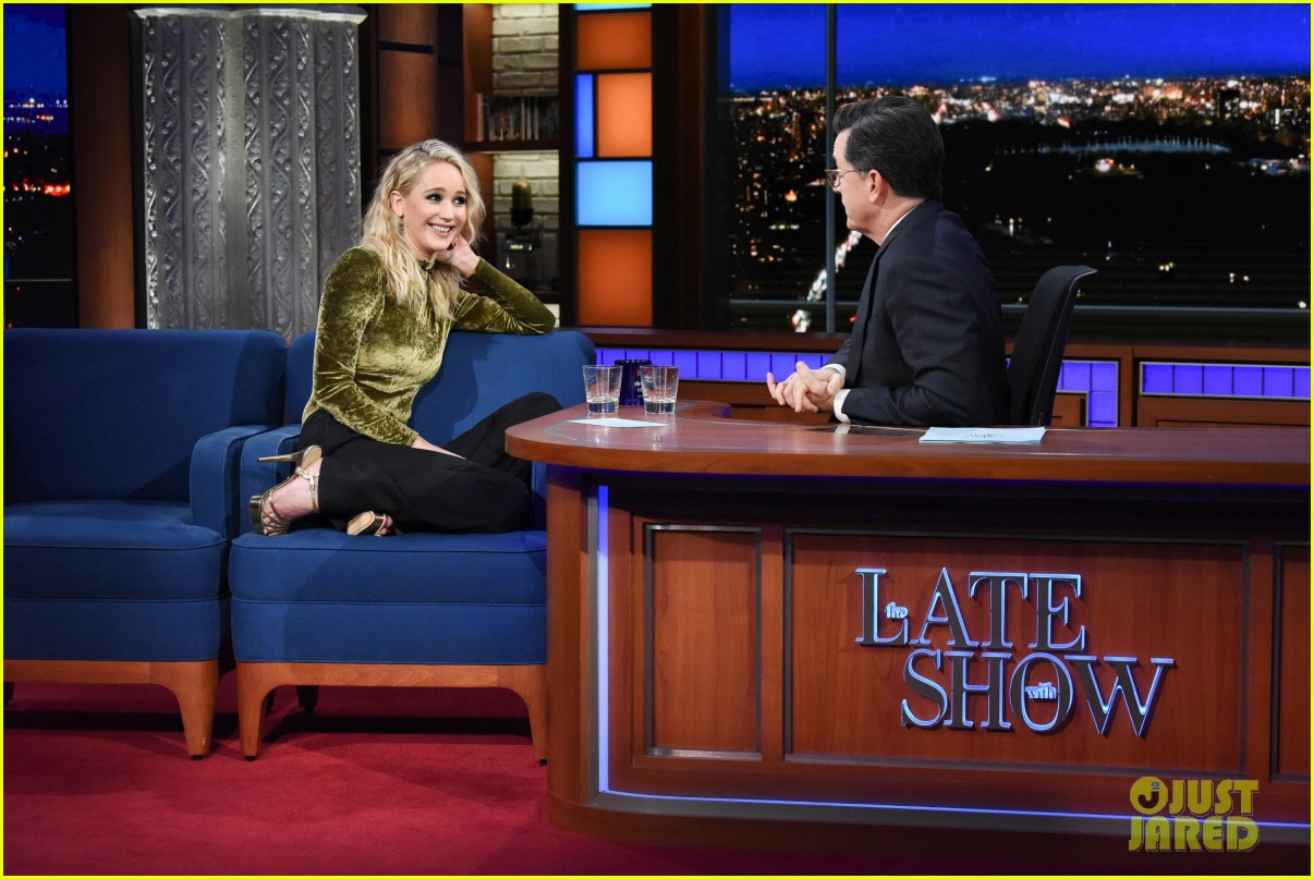 jennifer lawrence blasts horrible harvey weinstein with stephen colbert 034040038