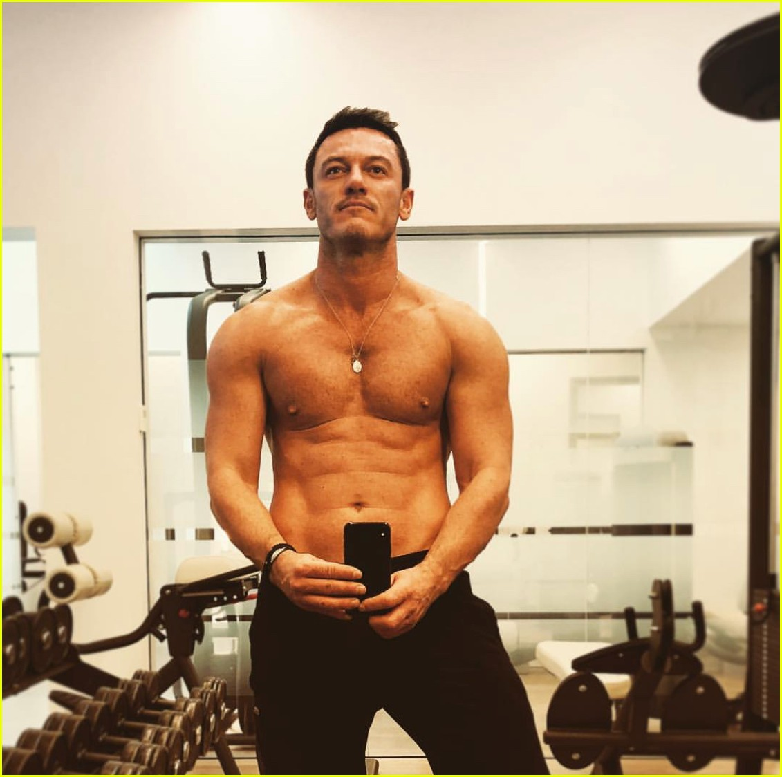 Luke Evans Goes Shirtless in Tiny Shorts at the Beach