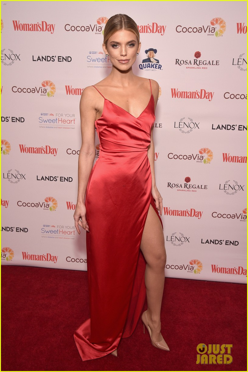 annalynne mccord laura benanti red dress awards 014028824