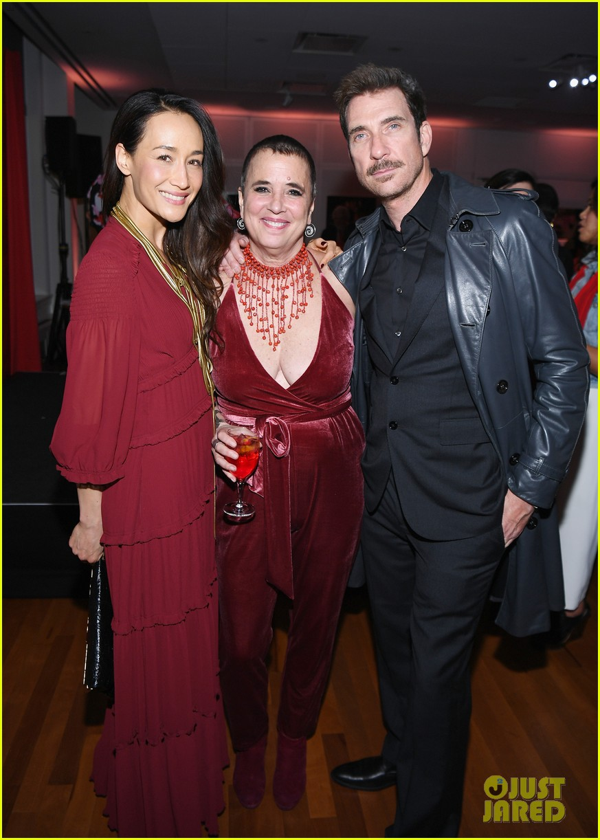 dylan mcdermott maggie q couple up at v20 the red party celebration 024033669