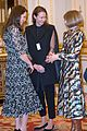 pregnant kate middleton attends fashion event at buckingham palace 17