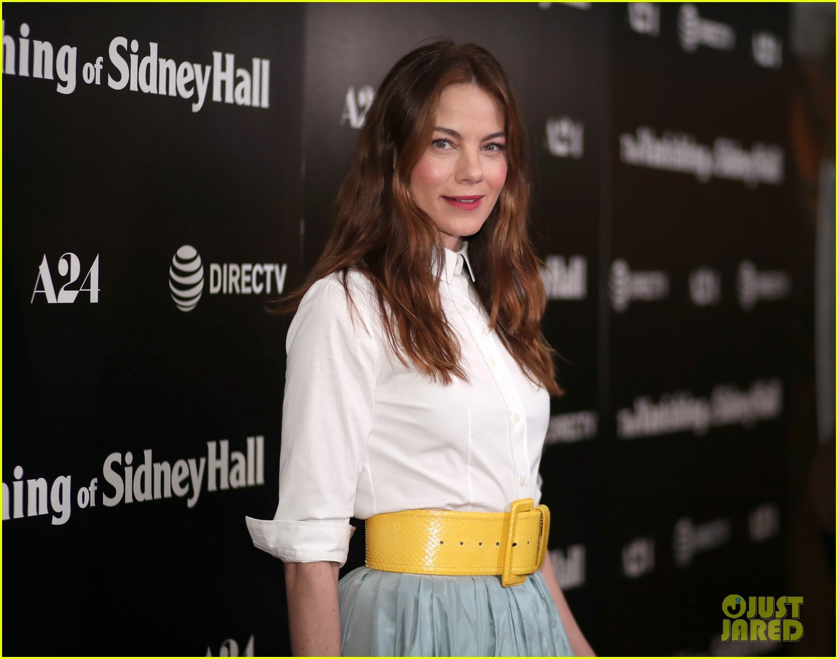 michelle monaghan logan lerman vanishing of sidney hall premiere 024037835