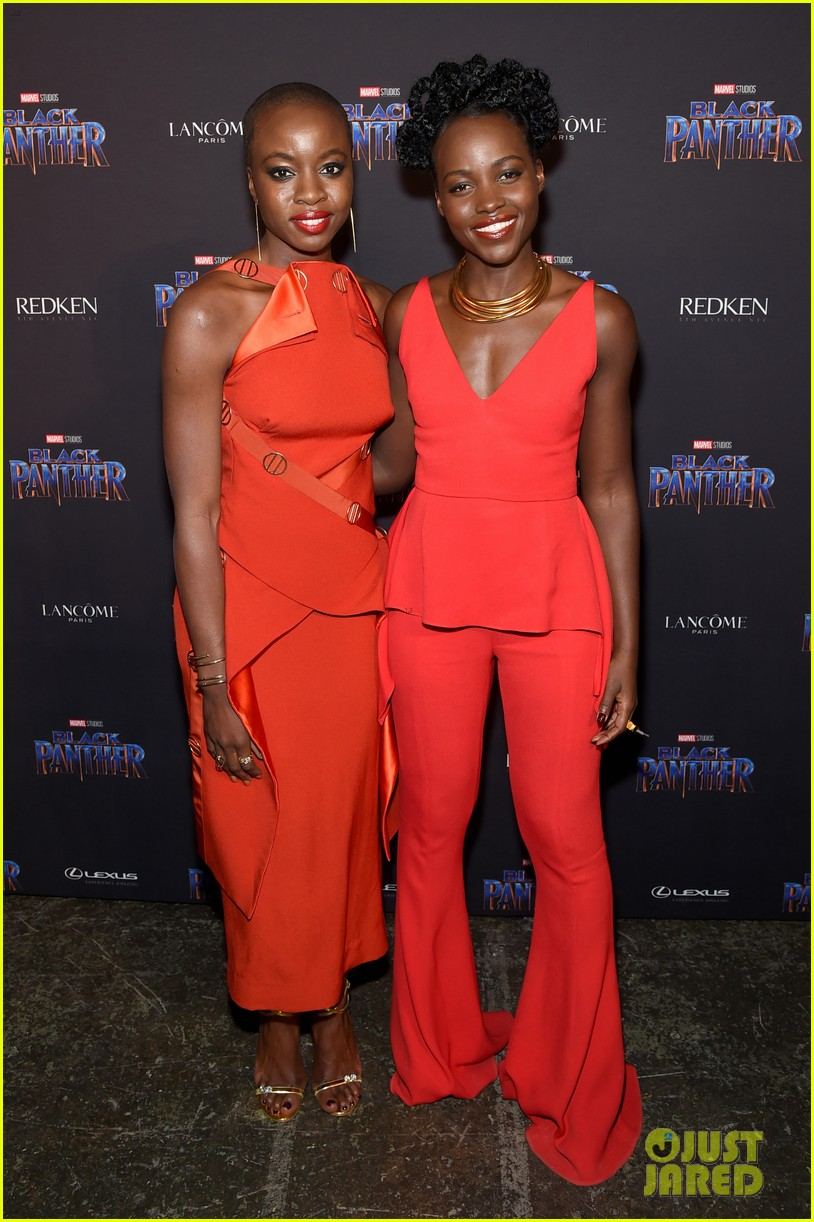 lupita nyongo danai gurira are red hot at black panther nyfw event 024032009
