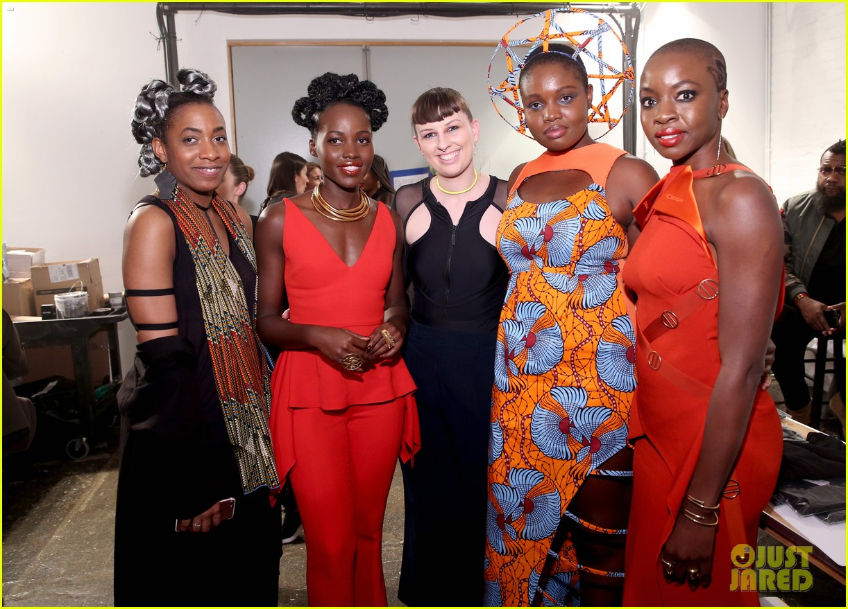 lupita nyongo danai gurira are red hot at black panther nyfw event 044032011