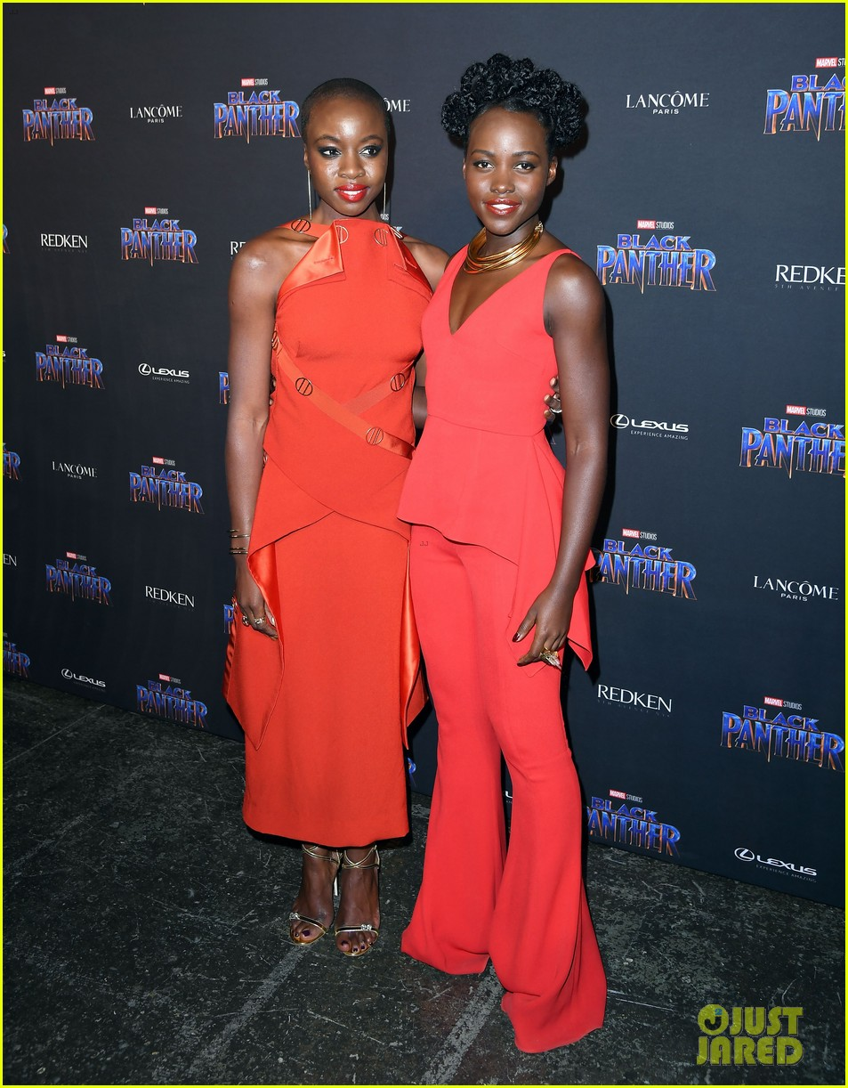 lupita nyongo danai gurira are red hot at black panther nyfw event 074032014
