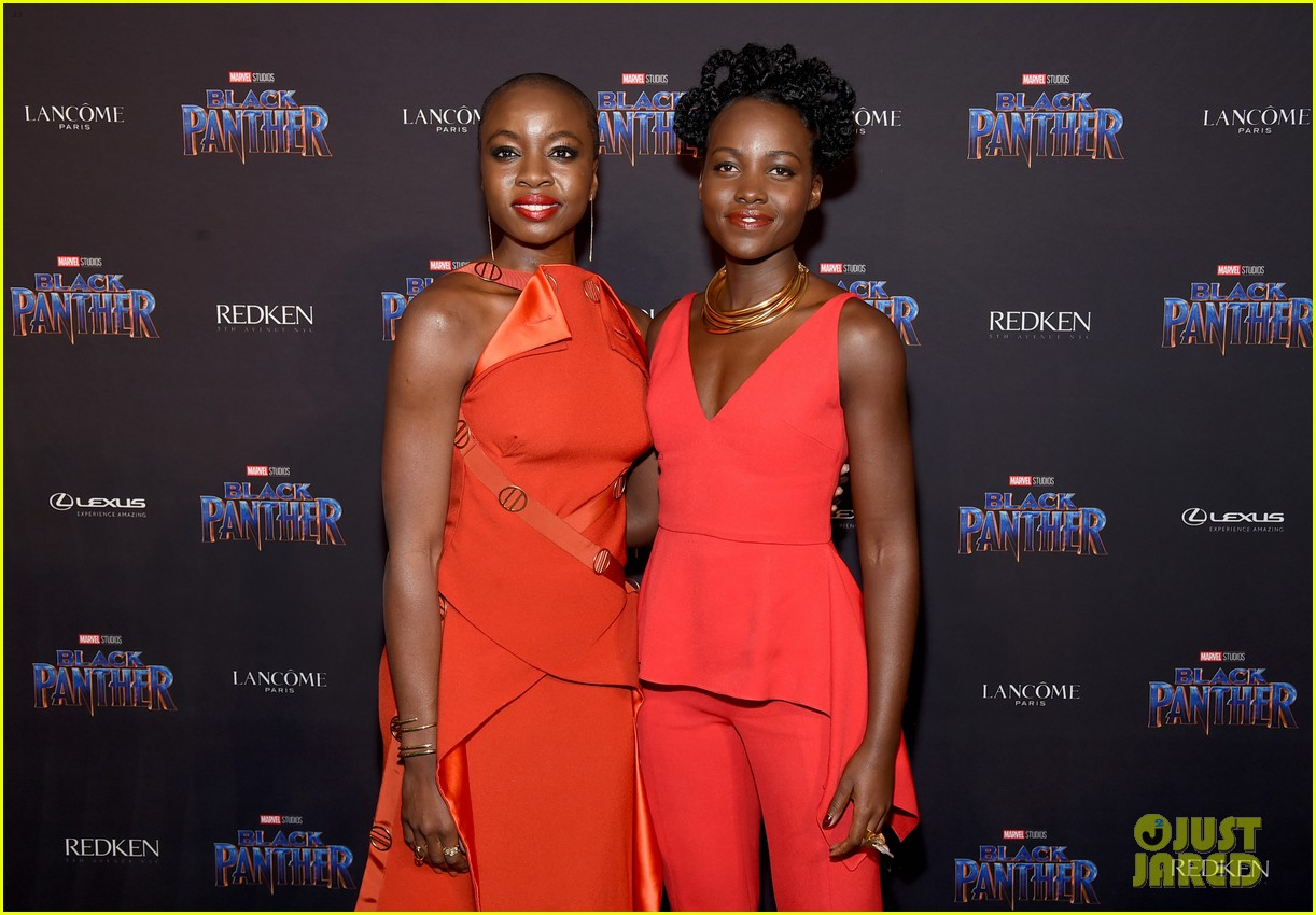 lupita nyongo danai gurira are red hot at black panther nyfw event 094032016