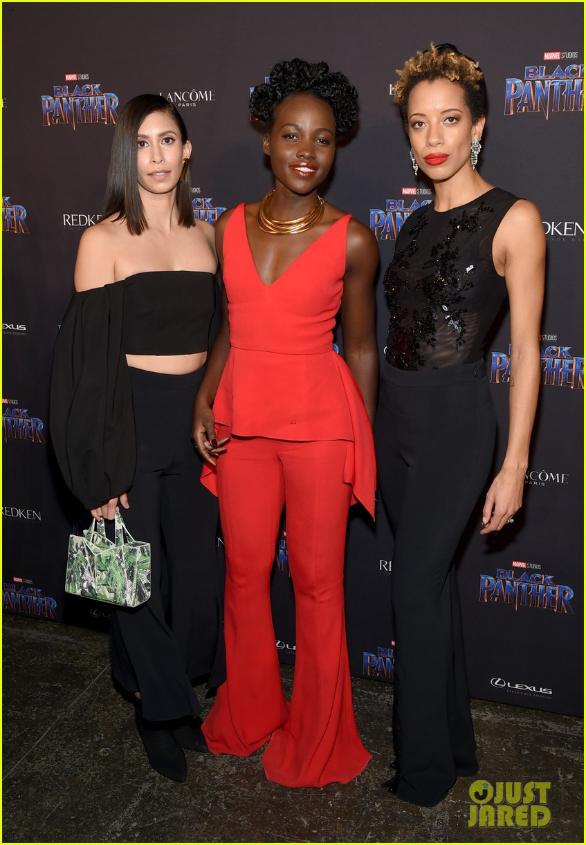 lupita nyongo danai gurira are red hot at black panther nyfw event 124032019