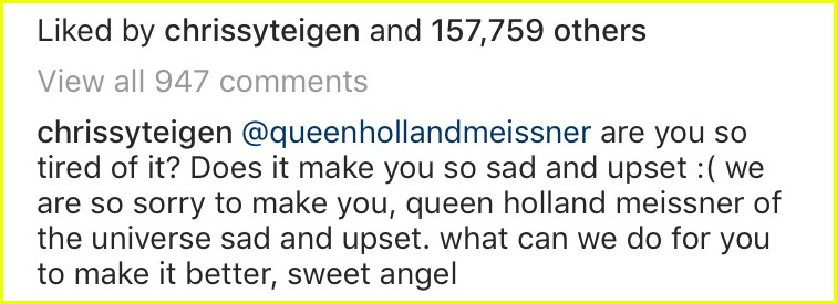 chrissy teigen comment to fan 024038824